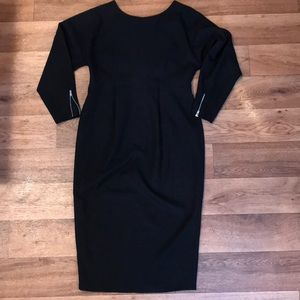 ASOS maternity long sleeve midi pencil dress